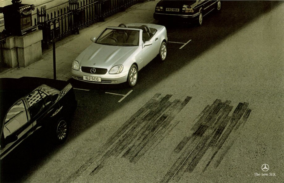 Mercedes-Skidmarks